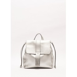 SILVER | Women's Backpack with flap and leather effect Gaudì Spring Summer 2020