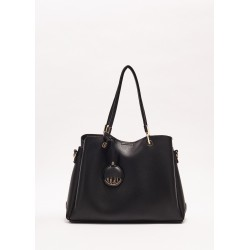 BLACK | Women's Top handle bag with leather effect Gaudì Spring Summer 2020