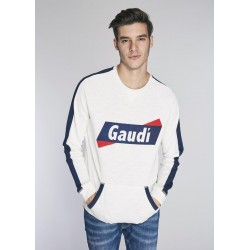 Men's white Sweatshirt Gaudì  | Spring Summer Sale