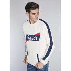 Men's white Sweatshirt Gaudì  | Spring Summer Sale