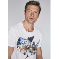 "T-shirt ""Amazing"" bianca da uomo Gaudì IN SALDO | Saldi Estivi"