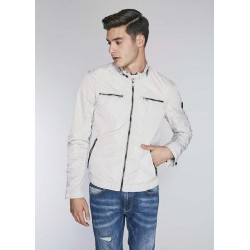 Men's Technical fabric light grey jacket Gaudì  | Spring Summer Sale