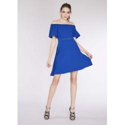 Robe courte bleu électrique pour Femme Gaudì | Soldes d'été