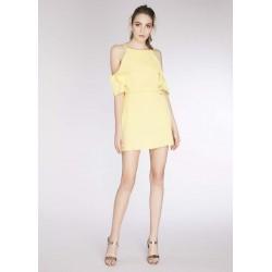 Mini robe jaune pour Femme Gaudì | Soldes d'été