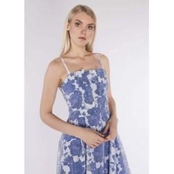 Abito floreale bianco e blu da donna Gaudì IN SALDO | Saldi Estivi