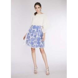 Gonna floreale bianco e blu da donna Gaudì IN SALDO | Saldi Estivi