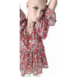 Blusa a fiori rosa da donna Gaudì