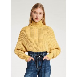 WINTER SALES | Woman - Turtleneck Yellow sweater Gaudì Jeans