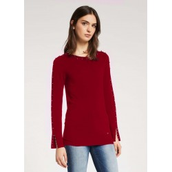 WINTER SALES | Woman - Red Sweater with studs