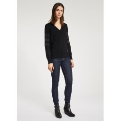DONNA | Autunno inverno - Maglia nera con strass Gaudì Jeans