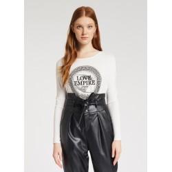 """LOVE EMPIRE"" print T-shirt..."