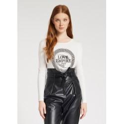 "T-shirt bianca con stampa ""LOVE EMPIRE"" Gaudì"