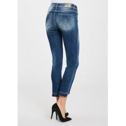 Jeans con fondo a taglio vivo Gaudì Jeans