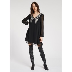 WINTER SALES | Woman - Dress with embroidered neckline Gaudì