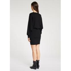 Abito nero in maglia con strass Gaudì Jeans