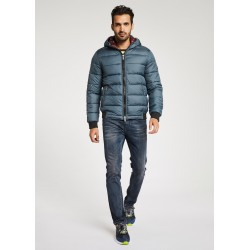 Hooded down jacket Gaudì
