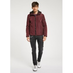 WINTER SALES | Man - Red Hooded down jacket covered Gaudì