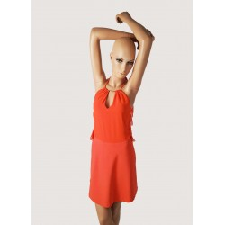 DONNA | Mini abito arancione in pizzo Gaudì