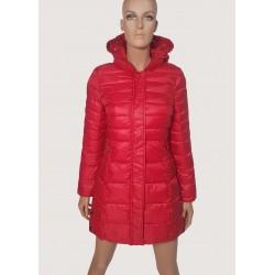 DONNA | Piumino lungo rosso con cappuccio Gaudì Jeans