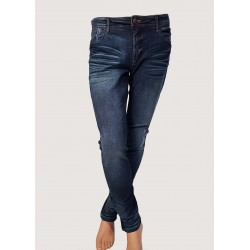 Elasticated dark blue jeans...