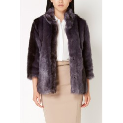 Purple gradient faux fur Gaudì