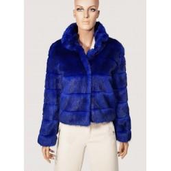 SALDI INVERNALI | Donna - Ecopelliccia corta blu maniche lunghe Gaudì