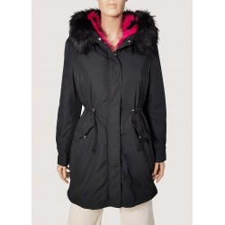 Long parka with removable...