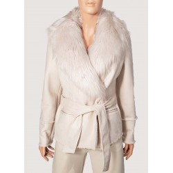 WINTER SALES | Woman - Eco sheepskin with removable faux fur collar Gaudì