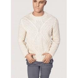 WINTER SALES | Men's - Crew neck sweater with embossed Gaudì