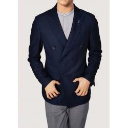 SALDI INVERNALI | Uomo - Giacca blu doppiopetto Trussardi Jeans