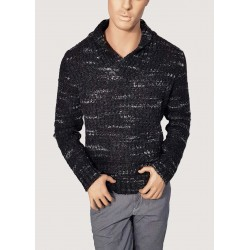 High V-neck perforated...