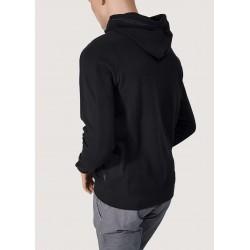 WINTER SALE | Man - Black hooded sweatshirt with zip Gaudì
