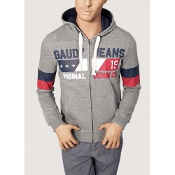 WINTER SALE | Man - Gray hooded sweatshirt Gaudì Jeans