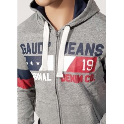 WINTER SALE | Man - Gray hooded sweatshirt Gaudì Jeans
