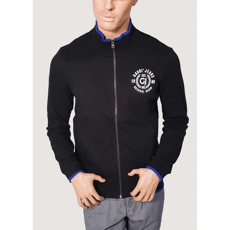 WINTER SALE | Man - Black Sweatshirt with zip Gaudì Jeans