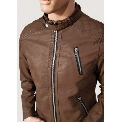 WINTER SALE | Man - Brown faux leather jacket Gaudì Jeans