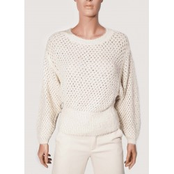 WINTER SALES | Woman - White Sweater with bat sleeves Gaudì