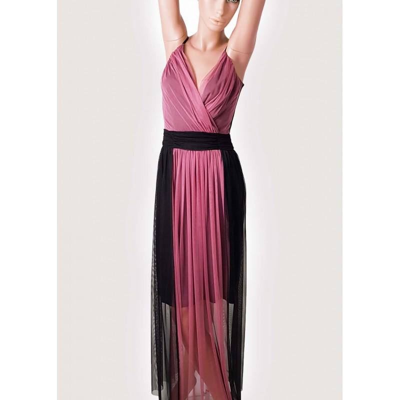Winter Sales | Woman - Long black and purple dress Elisa Landri