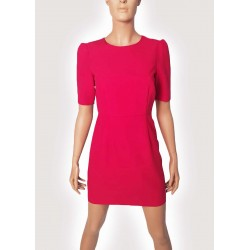 WOMAN | Fuchsia dress with draped straps Gaudì