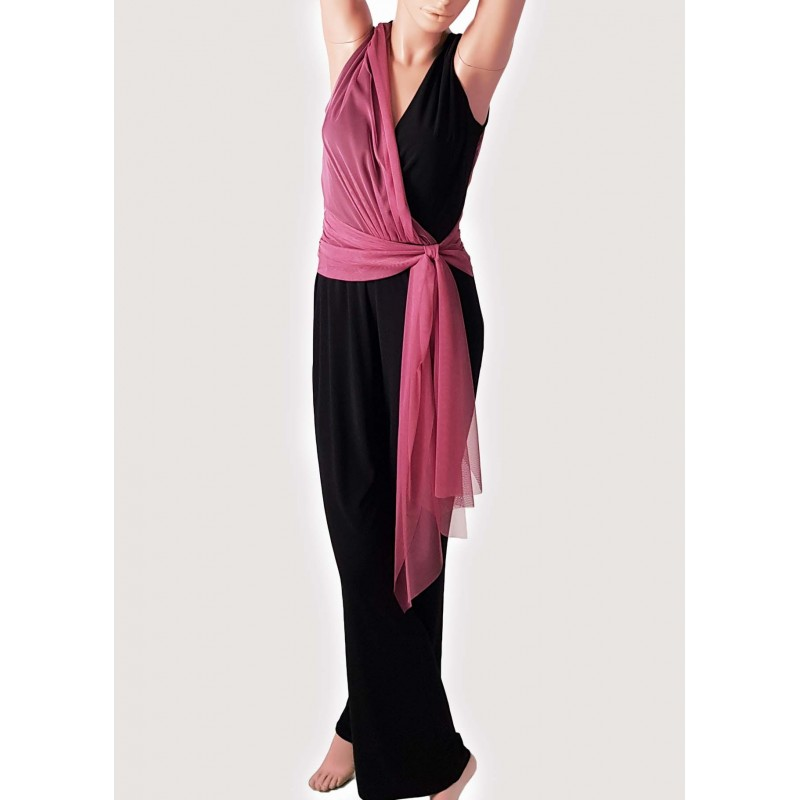 Winter Sales | Woman - Long black and purple jumpsuit Elisa Landri