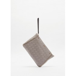 Quilted eco-leather clutch bag Gaudì