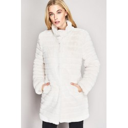 White eco-fur coat Gaudì