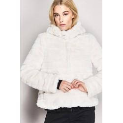 SALDI INVERNALI | Donna - Giaccone bianco in eco-pelliccia con cappuccio Gaudì