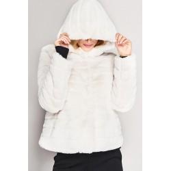 Faux fur jacket with hood Gaudì