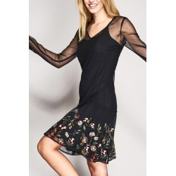 Tulle dress with floral embroidery Gaudì