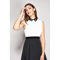 Sleeveless dress with detachable collar Gaudì