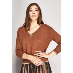 Long-sleeved V-neck sweater Gaudì