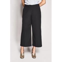 Pantalone gamba larga nero Gaudì