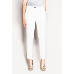 Pantalone a sigaretta bianco Gaudì