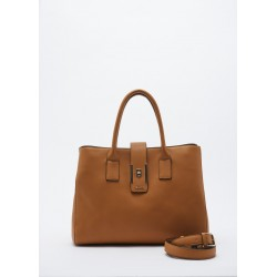 Faux leather bag with removable shoulder strap Gaudì mustard